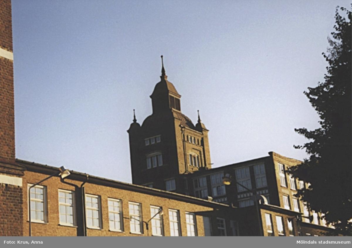 Kängurun 18. Krokslätts fabriker. F.d Spinneriet, norra gaveln.