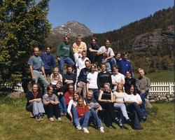 Avgangsklassen ved Hemsedal barne- og ungdomsskule i 2000. F