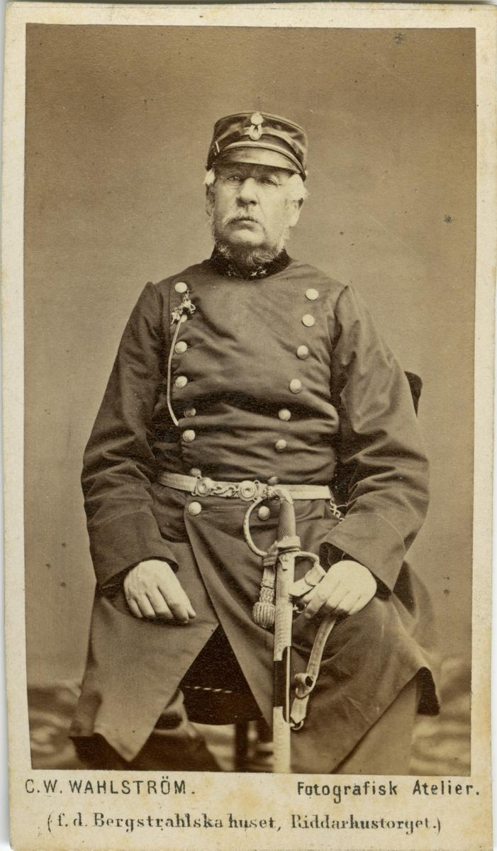 Porträtt av Oscar Ferdinand Barck, bataljonsläkare vid Livregementets dragonkår K 2.