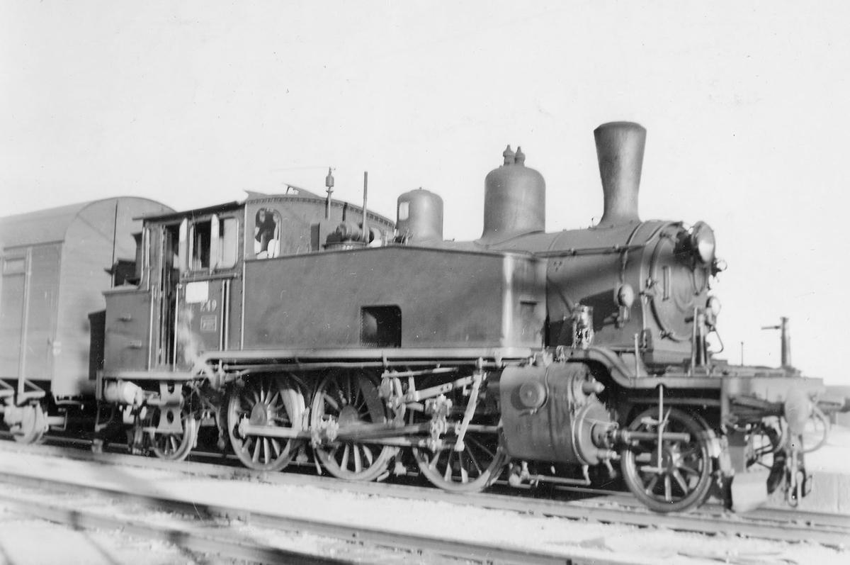 Damplokomotiv 20b 249 i skiftetjeneste.