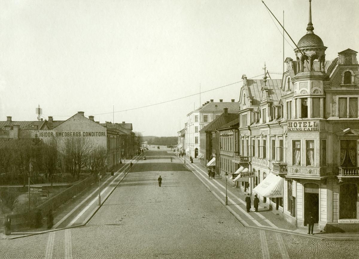 Järnvägsgatan norrut år 1905.