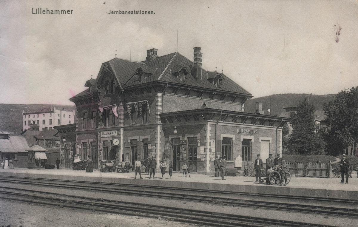 Lillehammer stasjon på Eidsvoll-Dombåsbanen.