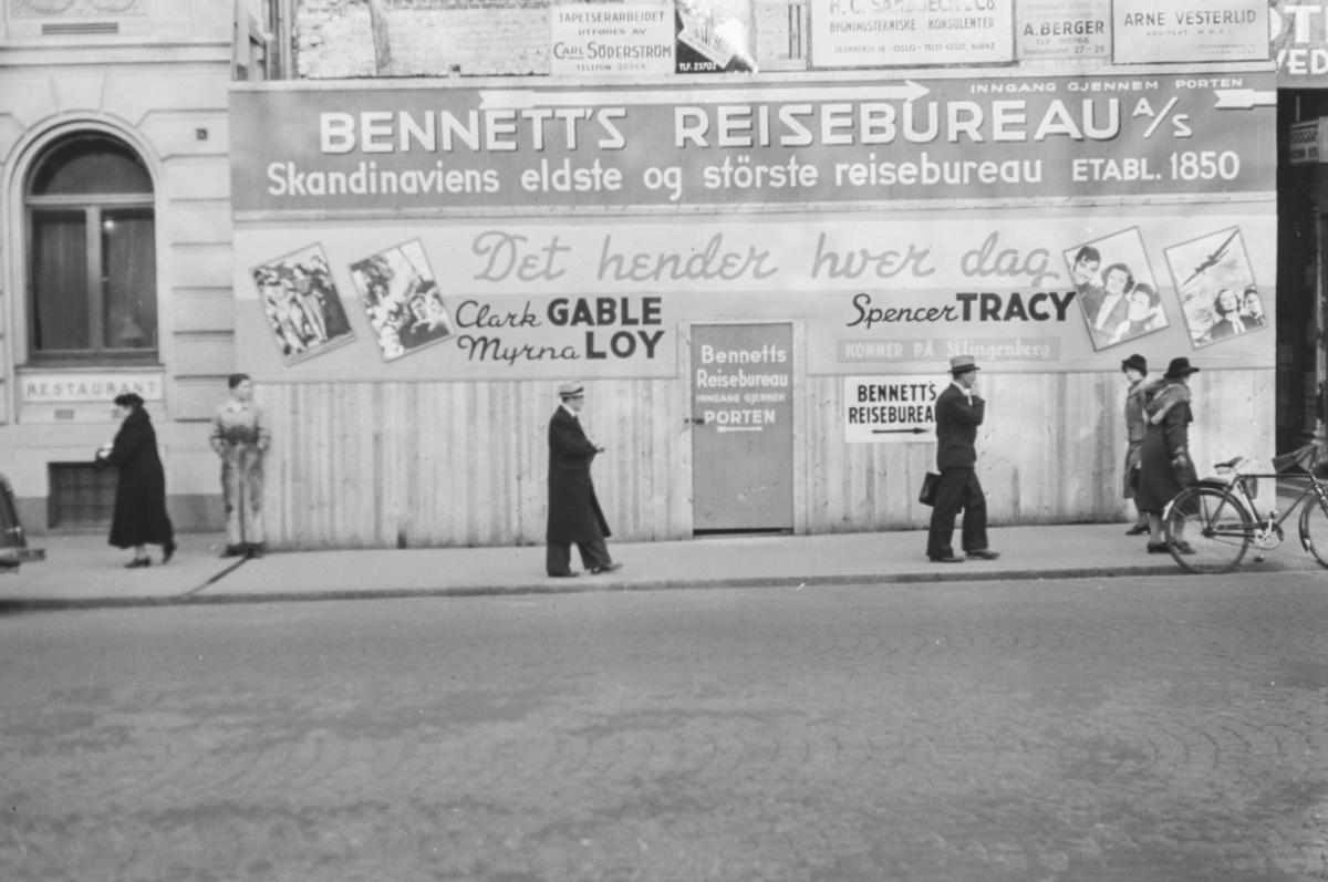 Reklameplakater i Oslo.