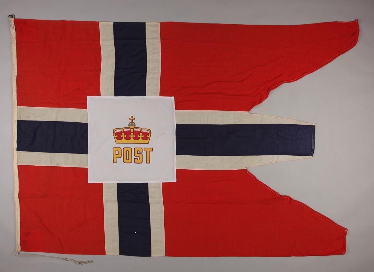 Norsk splittflagg/postflagg fra ROYAL VIKING STAR.