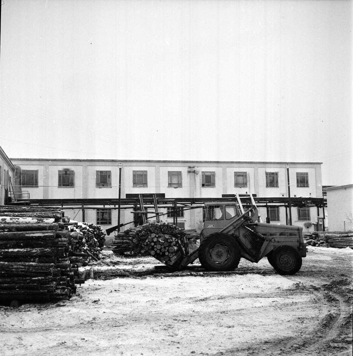 Midnäs, Sågen, utlastning, 23 Nov 1966