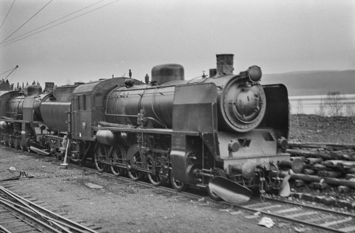 Svensk beredskapslokomotiv. Damplokomotiv type E10 nr. 1745.