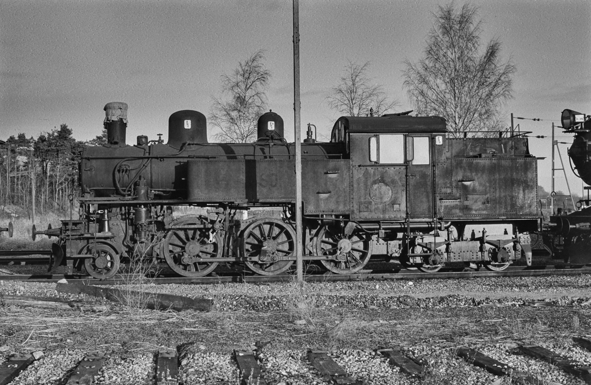 Svensk, damplokomotiv i Gävle i Sverige.