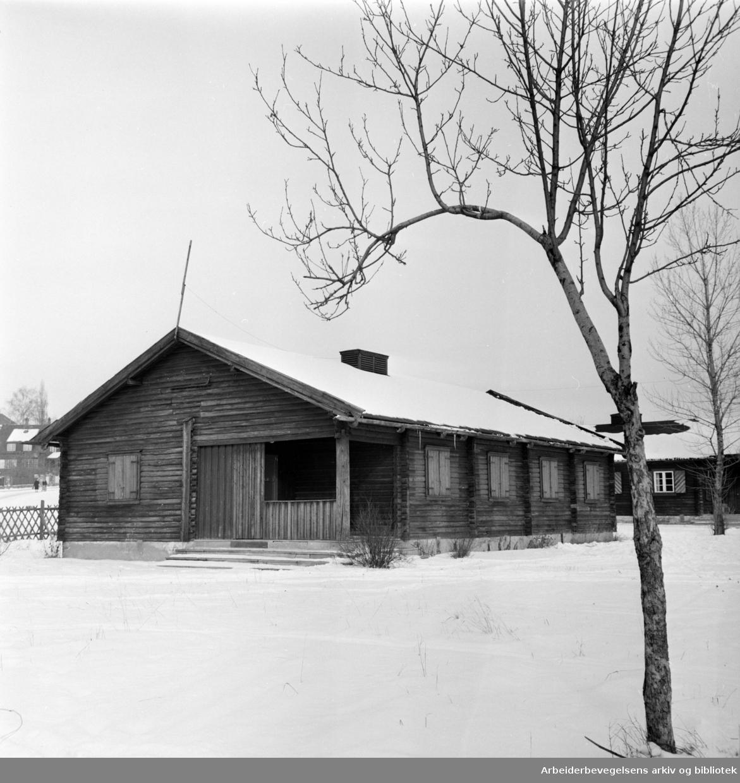 Frogner. Tyskerbolig fra krigen blir ungdomssenter på Frogner. Februar 1960