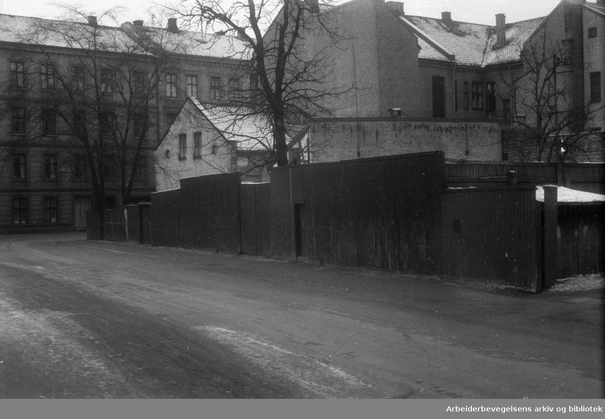 Gamlebyen. Februar 1949