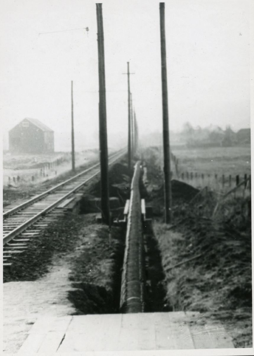 Legging av gruvevannsrør fra Løkken til Thamshavn.