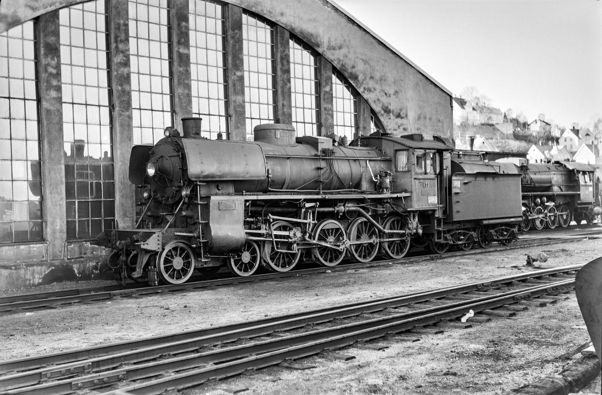 Damplokomotiv type 26c nr. 432 på Marienborg Verksted.