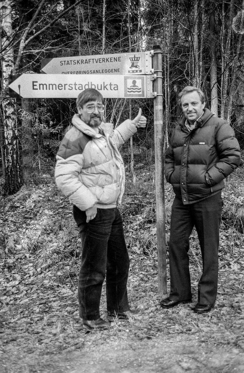 Emmerstadbukta bør beholdes som friområde. Kulturkonsulent Birger Hekkelstrand, ordfører Kjell Erik Heibek, Sigurd Johansen  ved kulturkontoret.