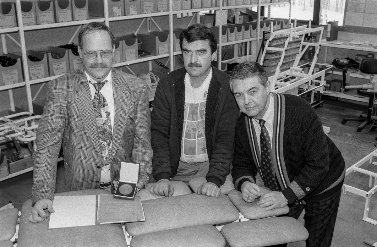Follo Industrier A/S satser på øst Europa. Fra venstre: Markedssjef Finn Aamodt, fagarbeider Erik Skuterud og administrerende direktør Ingar Bjerklund.