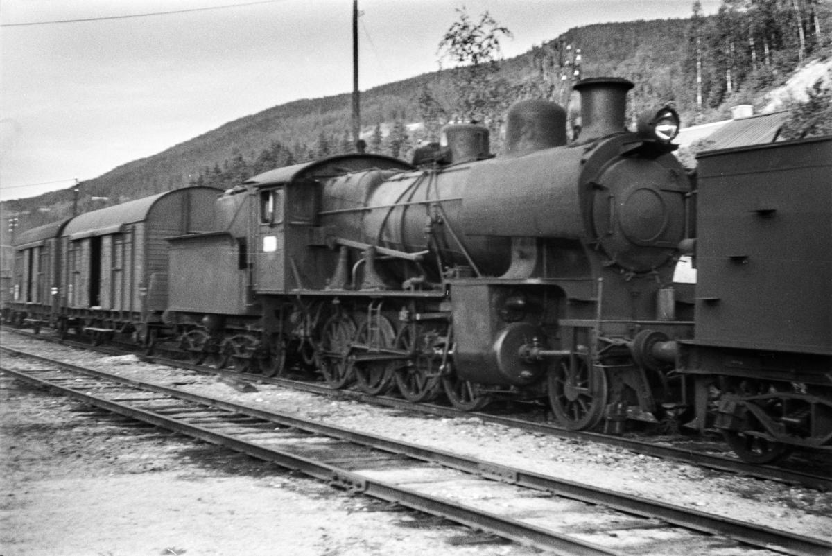 Utrangert damplokomotiv type 28b nr. 161 på Ål stasjon.