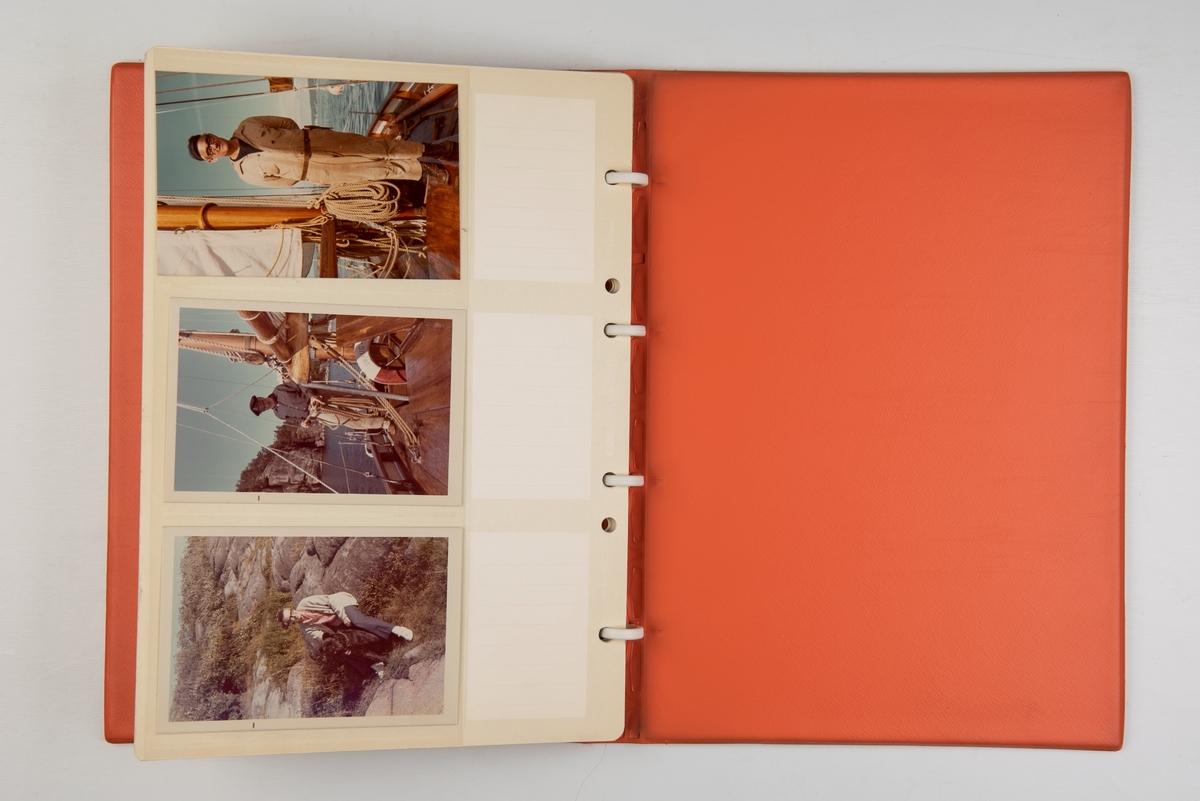Album med fotografier fra reiser med lystbåt og havseiler 'Draug', konstruert av Christian Jensen