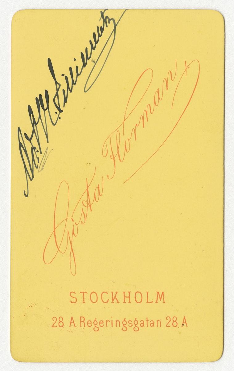 Porträtt av Adolf Magnus Lilliecreutz, underlöjtnant vid Smålands grenadjärbataljon.