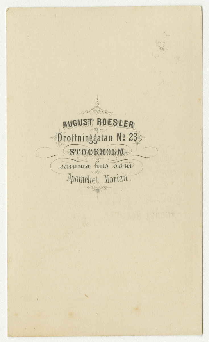 Porträtt av Fritz Julius Franklin Rosenquist, major vid Andra livgrenadjärregementet I 5.  Se även bild AMA.0001928.