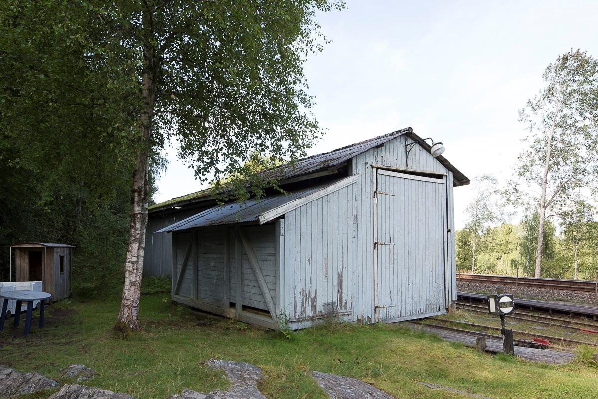 Vognhall bygd av museumsbanen ca. 1965.