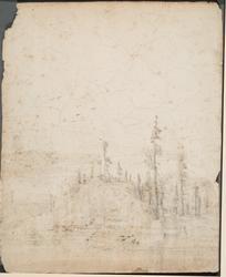 Skoglandskap [Tegning]