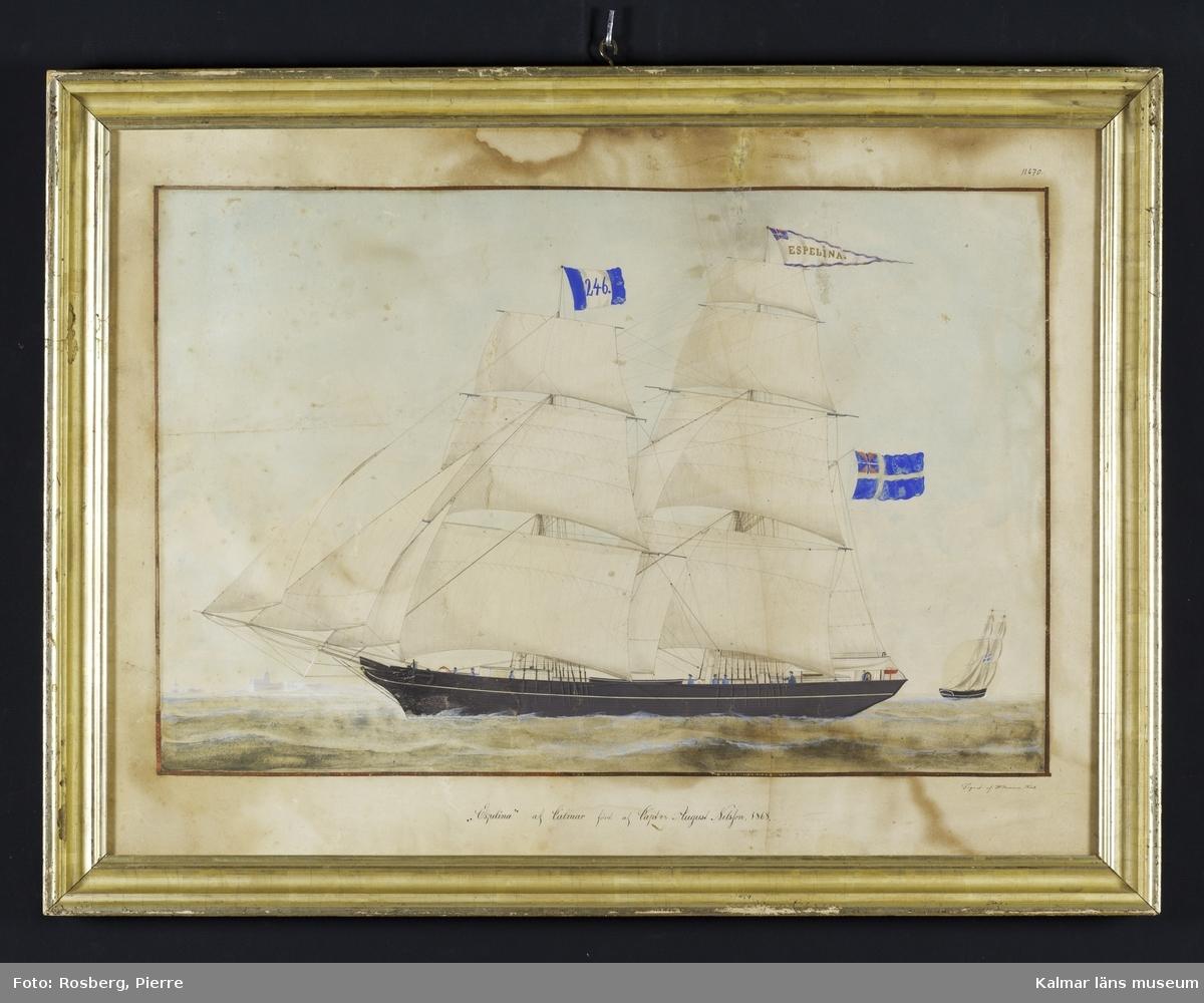 Fartygsbild med skeppet Espelina.