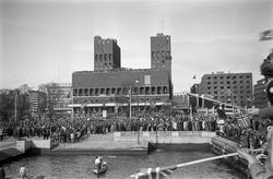 Kronprins Olavs hjemkomst 13. mai 1945.