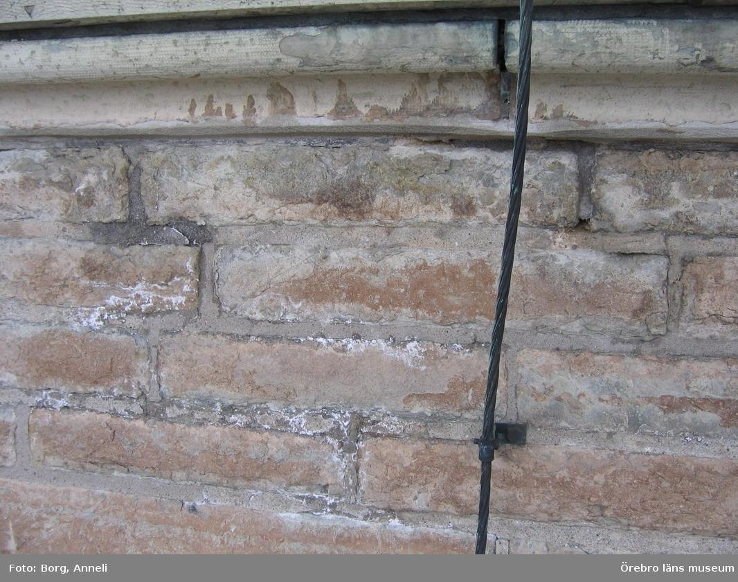 Renoveringsarbeten av tornfasader på Olaus Petri kyrka (Olaus Petri församling).Saltsprängning.Dnr: 2008.230.065