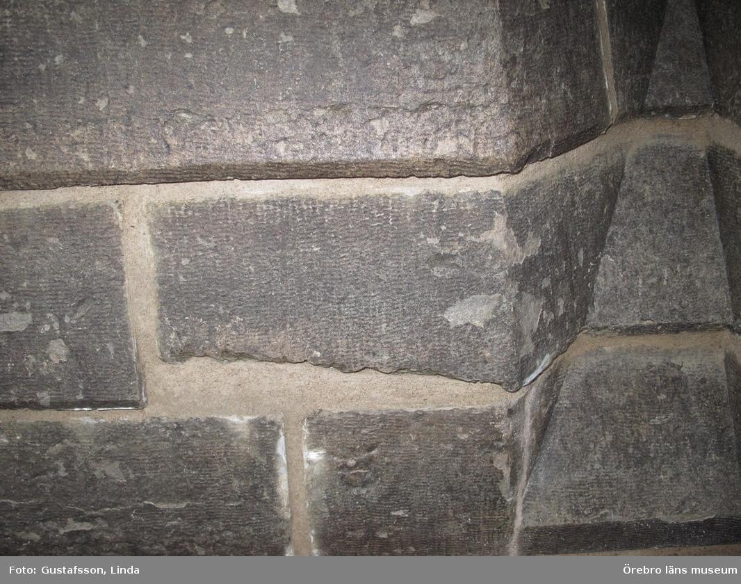 Renoveringsarbeten av tornfasader på Olaus Petri kyrka (Olaus Petri församling).Fasader, västra trapphustornen, efter åtgärd.Dnr: 2008.230.065