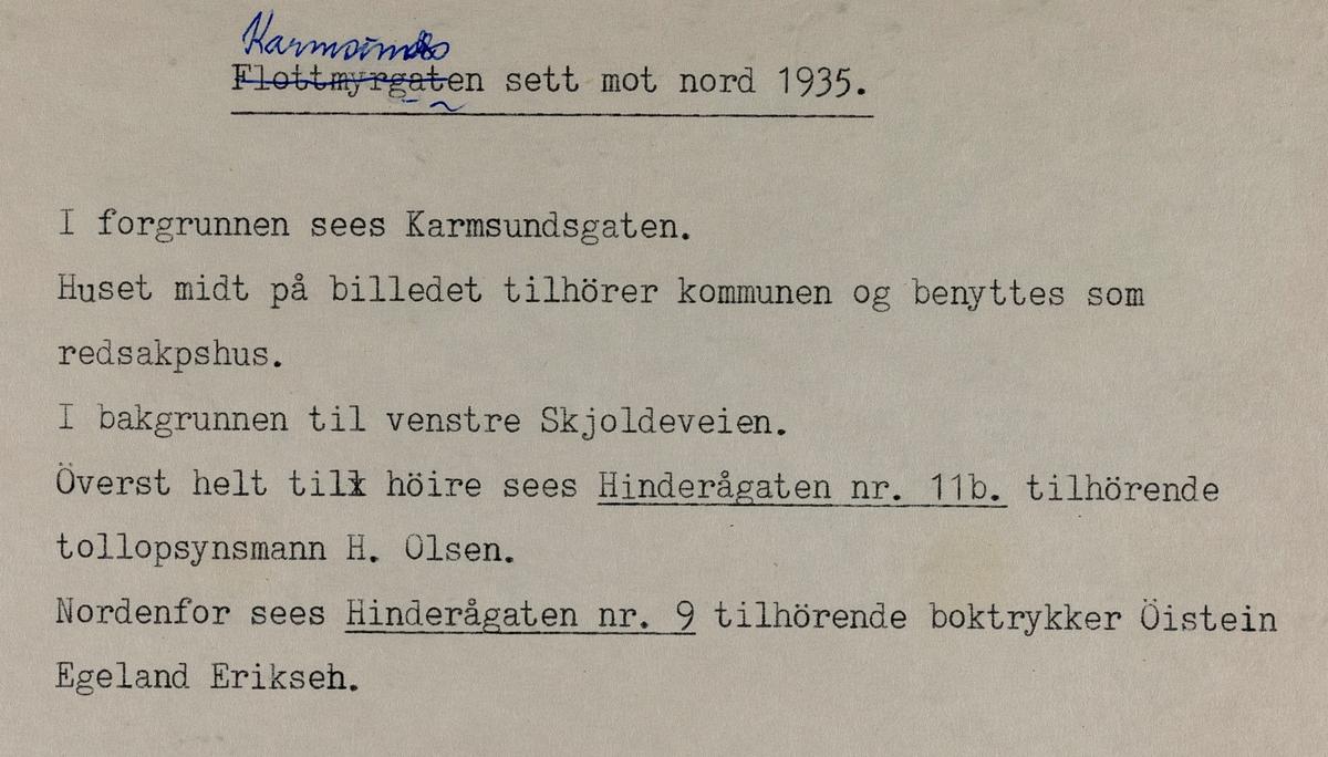 Karmsundgata sett mot nord, 1935.