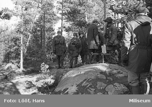 Almgren, Carl-Eric, chef för armén, besöker Skillingaryd.