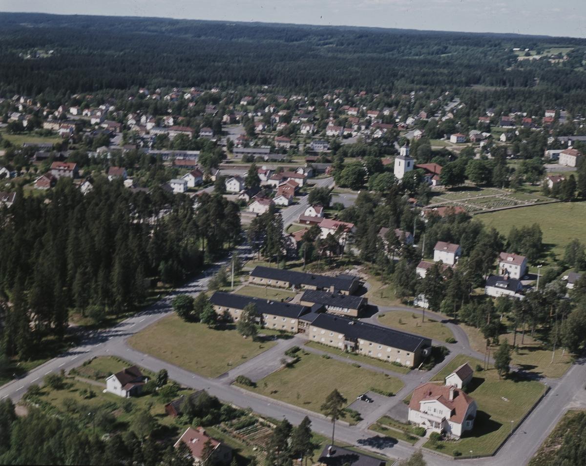 Flygfoto över Malmbäck i Nässjö kommun, Jönköpings län 23/1976