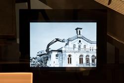 Stadshistoriska utställningen i arkivhuset. Den 25 Juli 1983
