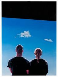 Himlen är blå, himlen är blå, himlen är blå [Målning]