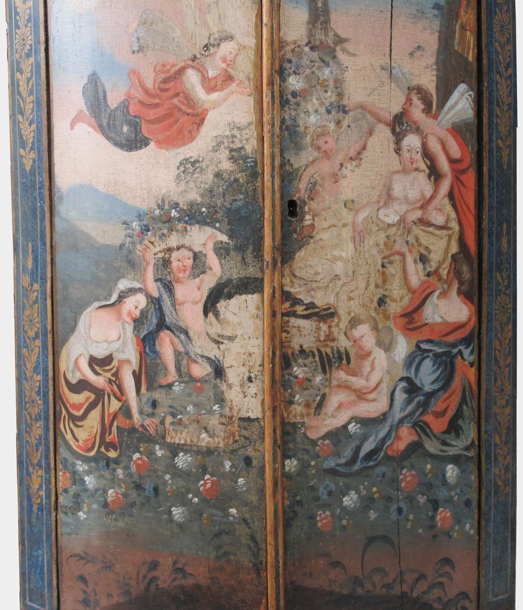 Venus og hennes hoff av amoriner og nymfer,