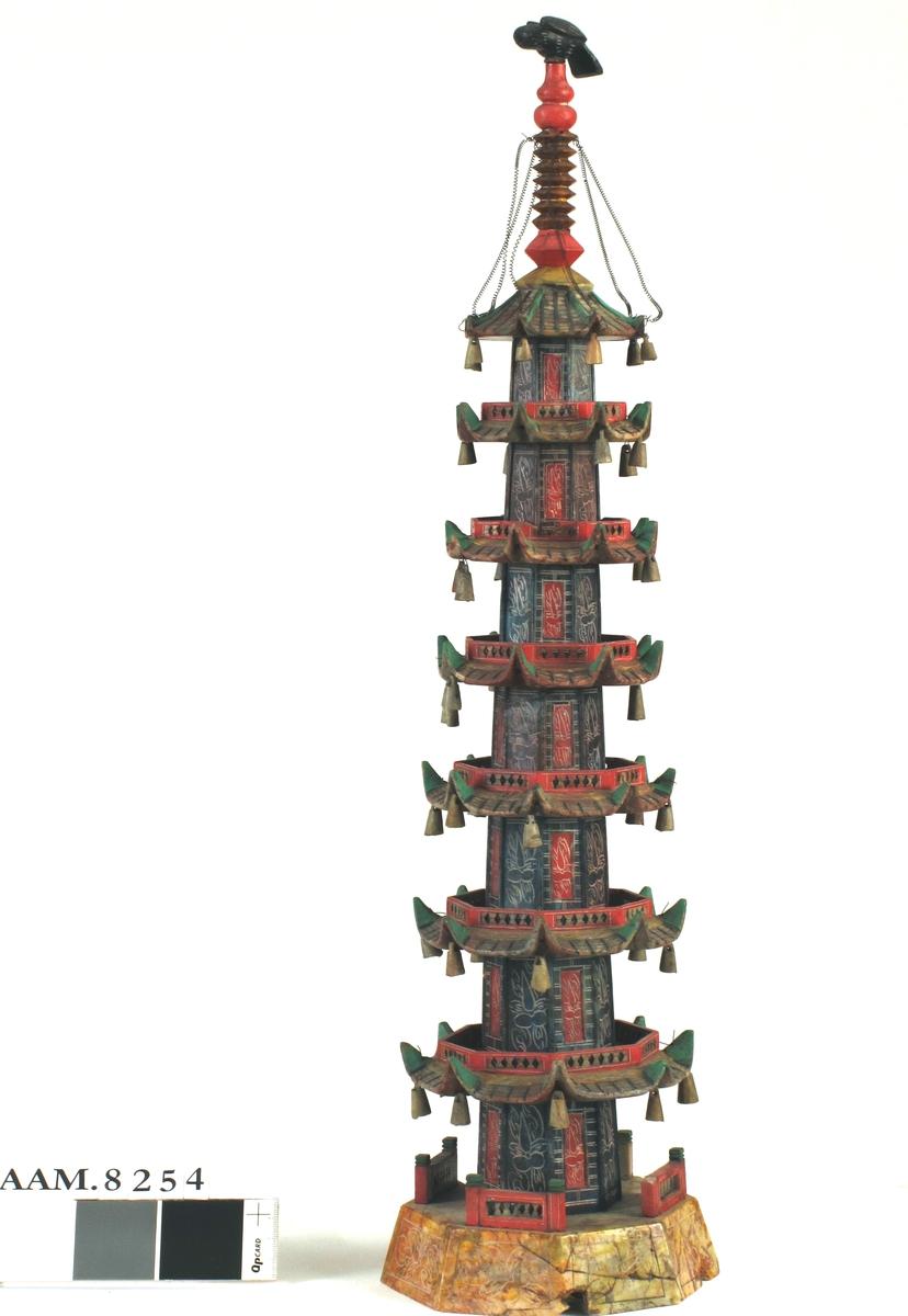 Modell av pagode.