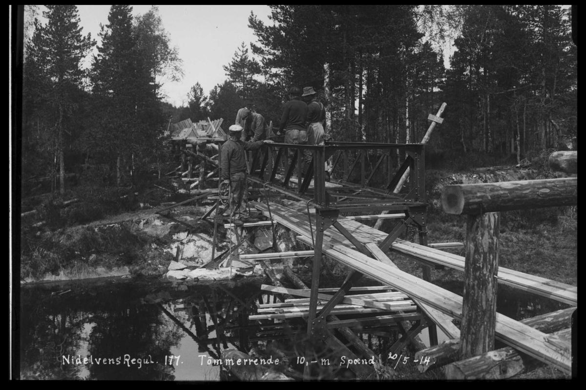 Arendal Fossekompani i begynnelsen av 1900-tallet CD merket 0468, Bilde: 86 Sted:  Nidelva Beskrivelse: Regulering