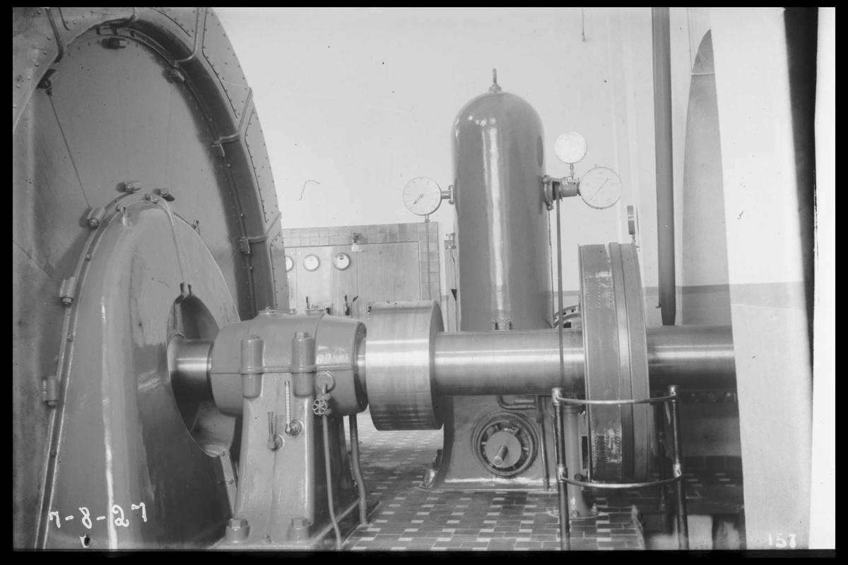 Arendal Fossekompani i begynnelsen av 1900-tallet CD merket 0470, Bilde: 74 Sted: Flaten Beskrivelse: Generator