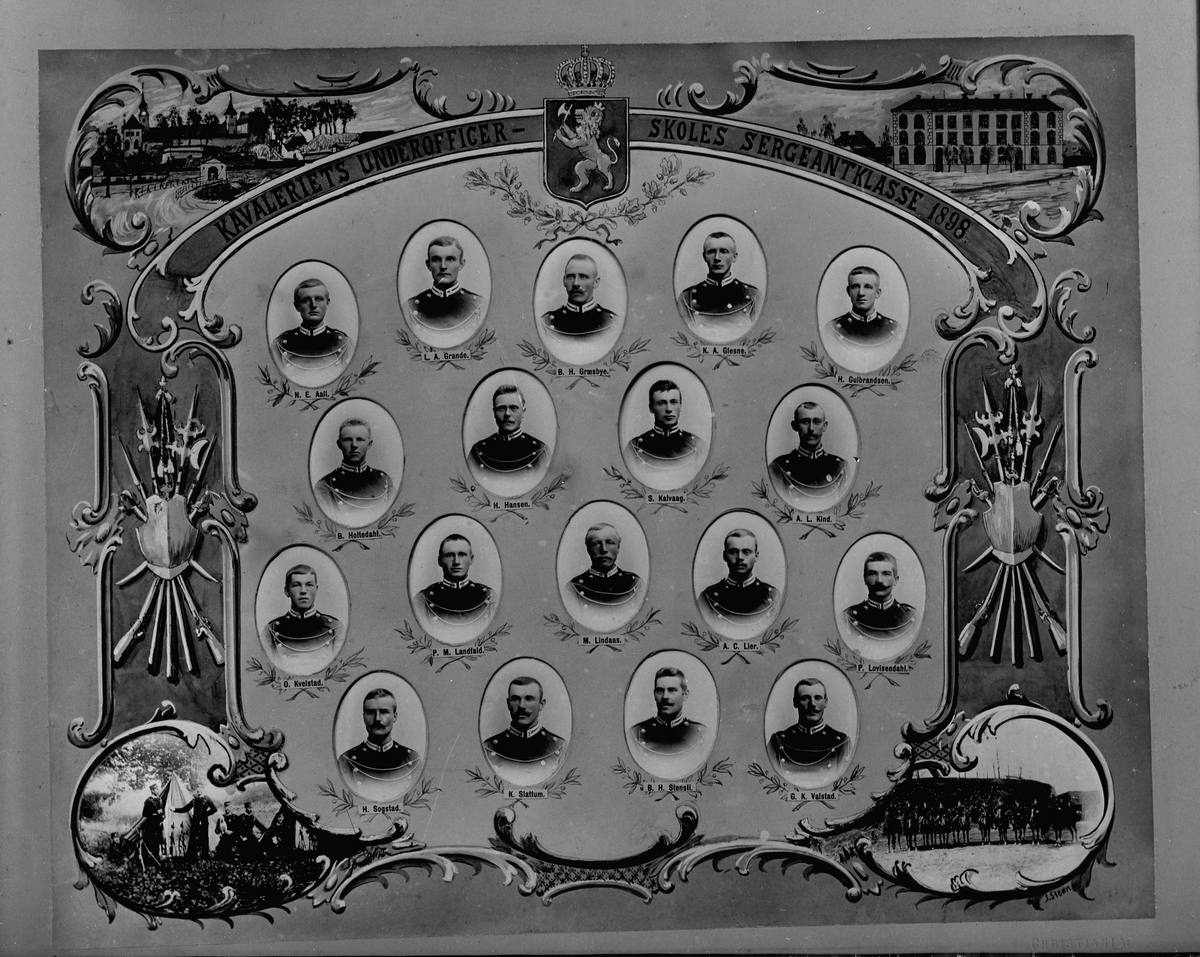 Kavaleriets underofficer skoles sergeantklasse 1898.