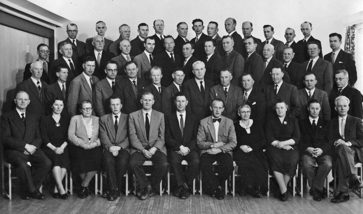 Eidsvoll Herredsstyre 1956-1959. Personer på bildet – se bilde 2.