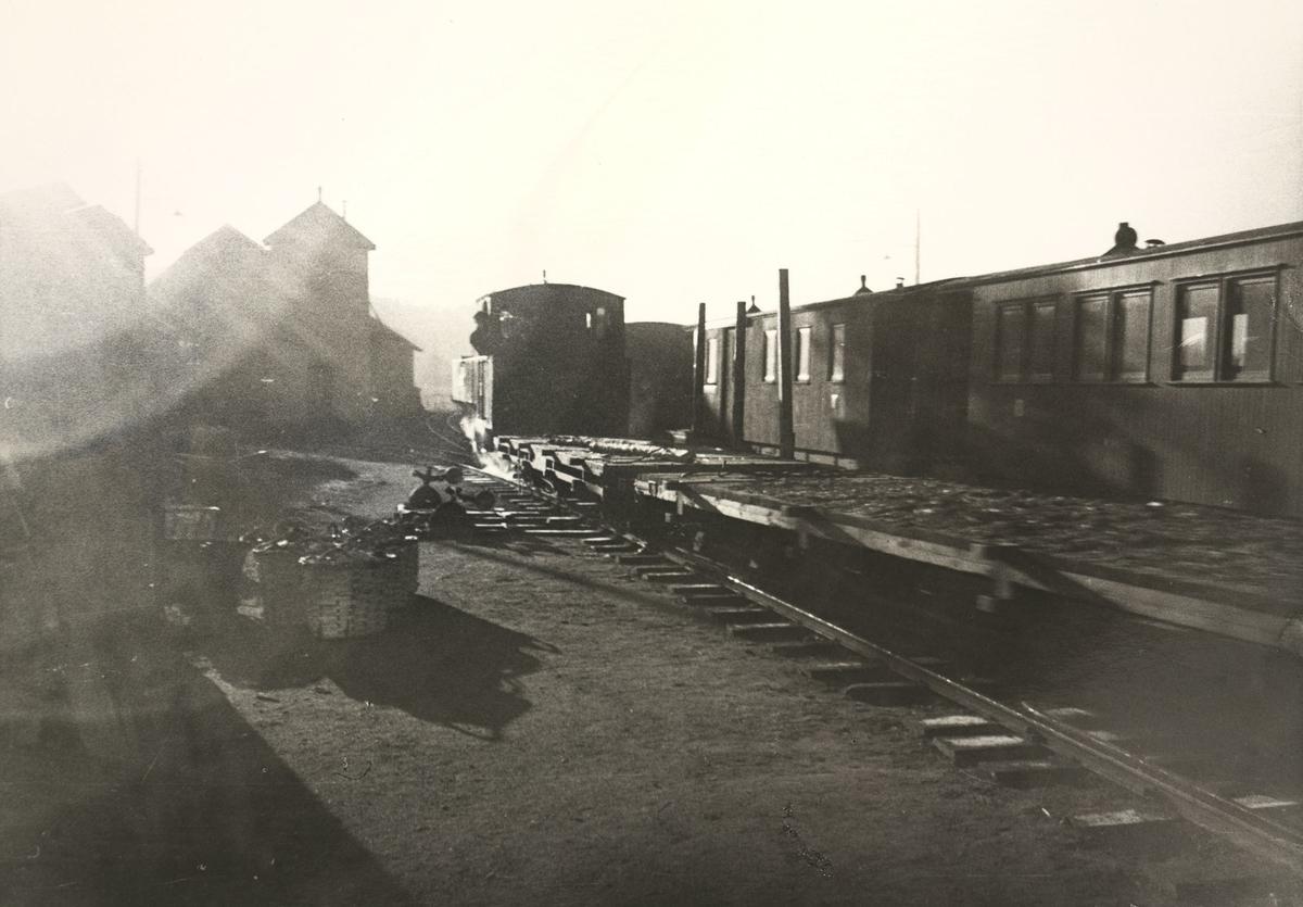 Skifting på Bjørkelangen stasjon.