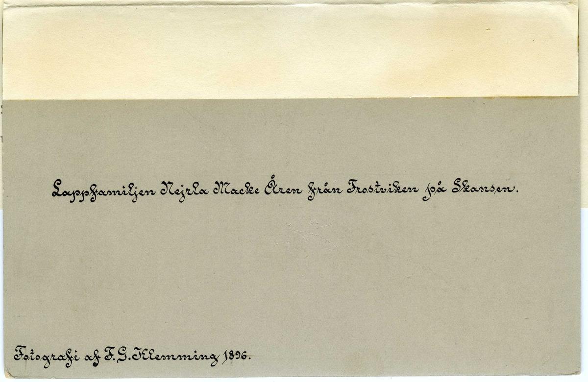 Familjen Nejrla Macke Åren från Frostviken vi samevistet på Skansen år 1896.