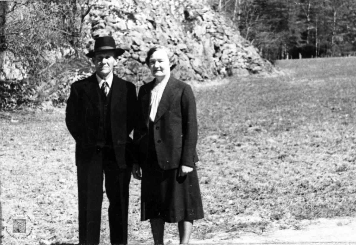 Ekteparet Knut og Berthe Rosseland, Bjelland.
