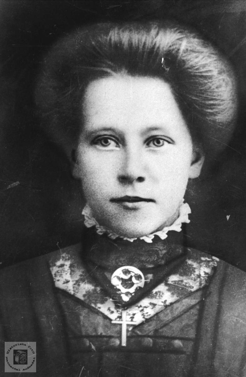 Portrett av Olevine Sløgedal, Øyslebø.