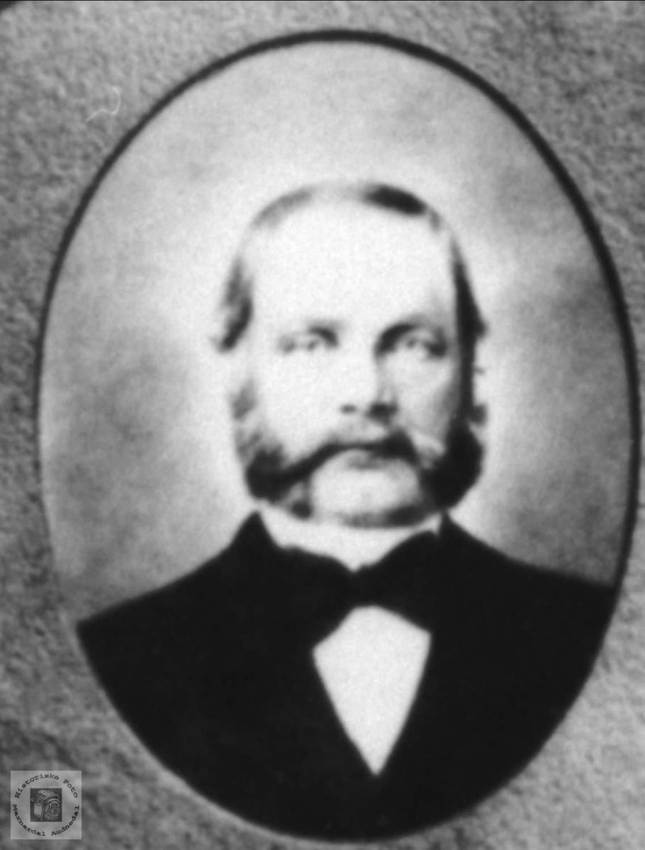Portrett av Abraham Koland, Bjelland.