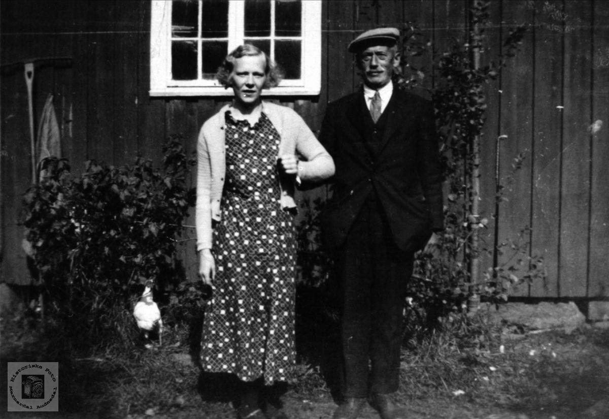 Gunhild Drange og Svigerfaren Johan Drange.