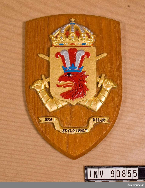 Minnesplakett Södra Skånska Regementet