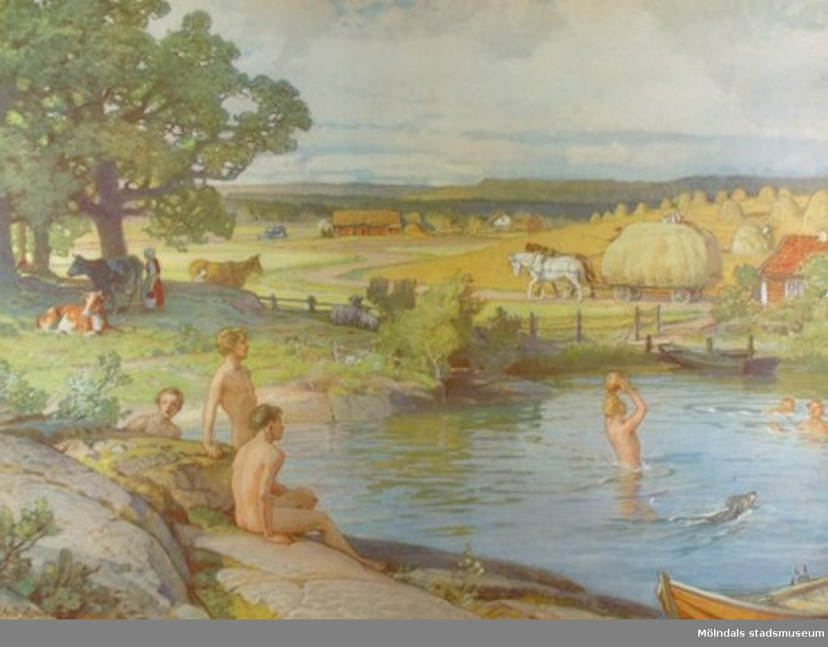 Geografi.Sommaren: målad av Nils Asplund.Iduns tryckeri, Esselte A-B. Stockholm 1943.