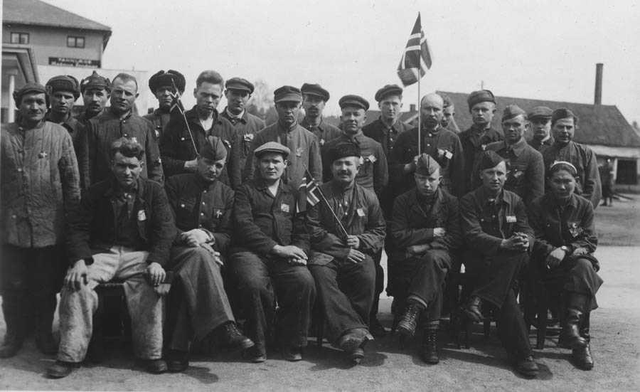 Frigjøringen 1945. Russiske fanger i Ski.