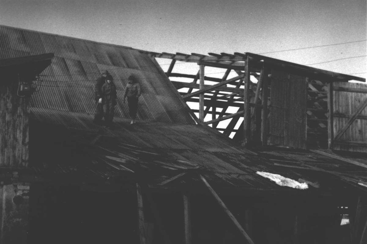 Tømmerlåven som ble revet i 1964. Opprinnelig fra ca 1780.