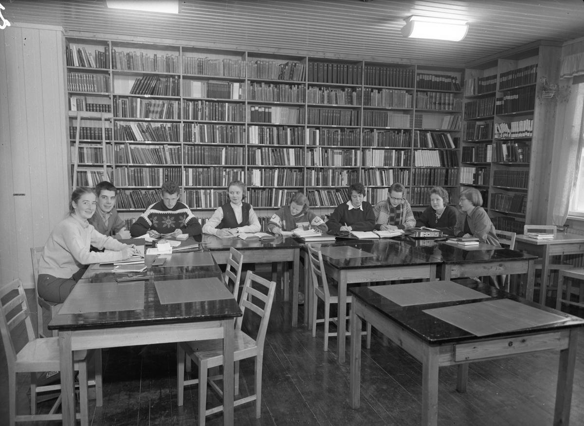 Romerike Folkehøyskole. Bibliotek eller lesesal.