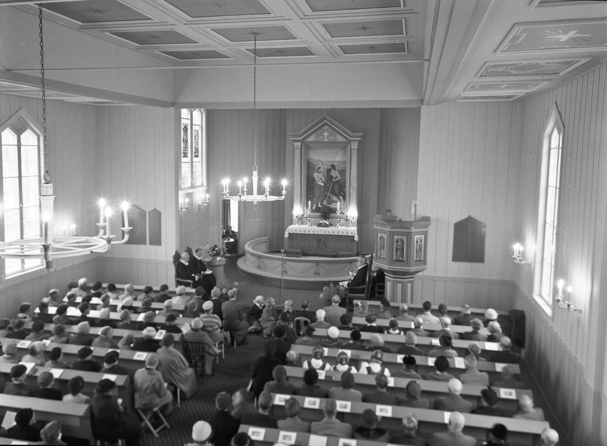 Langset Kirke. 100 års jubileum 18. okt.1959.